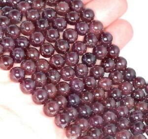 8MM CAT Eye RED Garnet Gemstone Grade AA Round Loose Beads 7