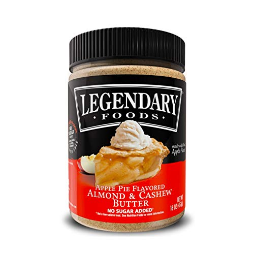(Legendary Foods Almond & Cashew Nut Butter | Keto Friendly, Low Carb, No Sugar Added | Apple Pie (16oz)