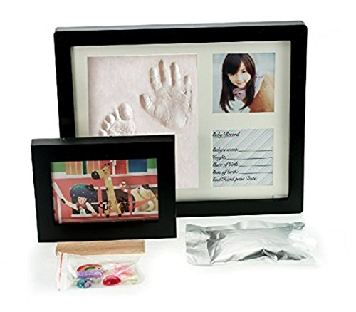 - Baby Handprint Kit & Footprint Photo Frame for Newborn Girls and Boys, Personalized Baby Gifts, Keepsake Box Decorations for Room Wall Nursery, Baby Photo Album for Shower Registry