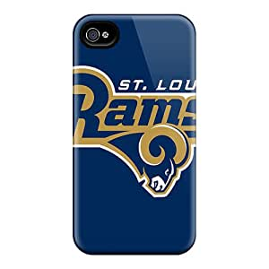 Excellent Iphone 4/4s Case Tpu Cover Back Skin Protector St. Louis Rams