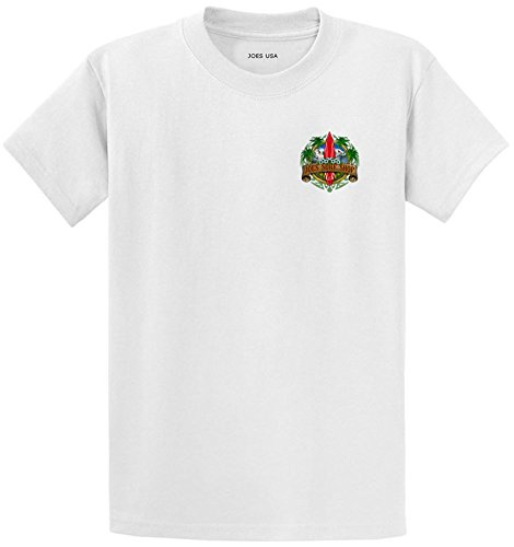 Cotton 100% Tee Heavyweight (Joe's Surf Longboard Logo Heavyweight Cotton T-Shirt-White/green-4XL)