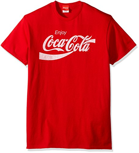 Coca-Cola Men's Eighties Coke Short Sleeve T-Shirt, Red, Large -