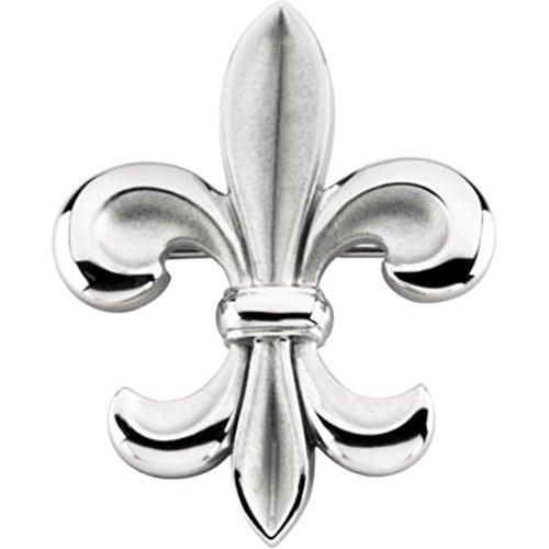 Fleur-de-lis Brooch in Sterling Silver by Bonyak Jewelry