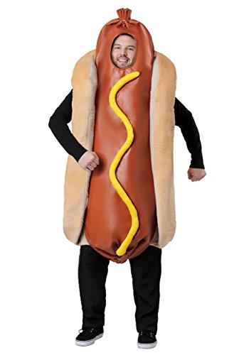 Adult Hot Dog Costume Standard Brown]()
