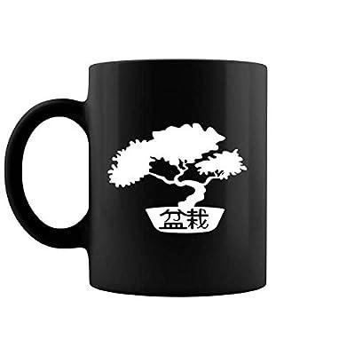 Bonsai Tree In Bonsai Pot Japanese Zen Spirit Meditation Coffee Mug 11 & 15 Oz: Kitchen & Dining