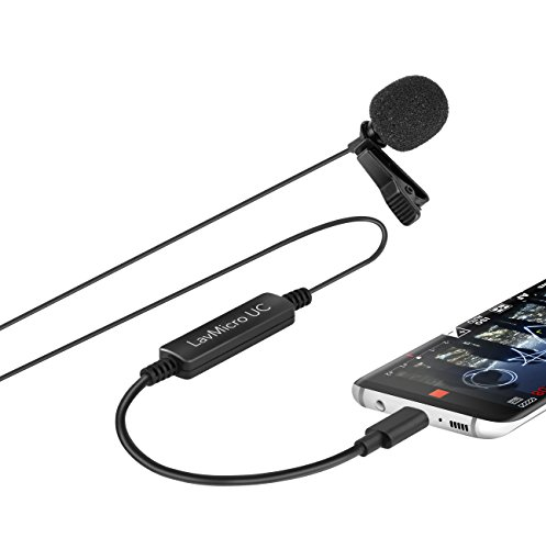 Saramonic LavMicro-UC Broadcast-Quality Lavalier Omnidirectional Microphone for USB Type-C Devices Including Samsung Galaxy, LG, HTC Google Pixel, Google Nexus, Other USB C Type Smartphones Cardioid Omni Directional Microphone