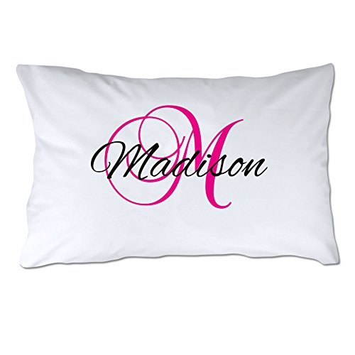 Pattern Pop Name and Initial Pillowcase - Script