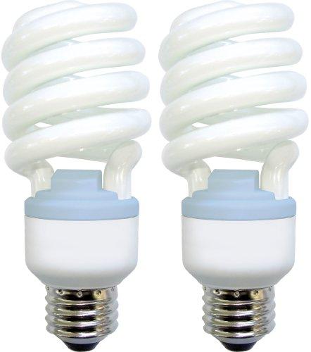GE Lighting 75413 Reveal Spiral CFL 26-Watt (100-watt replacement) 1570-Lumen T3 Spiral Light Bulb with Medium Base, ()