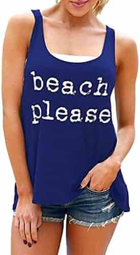 060118684b46 TWinmar -Women Tank Tops Leaf Print Sleeveless Vest Loose Crop T-Shirt Cute  Loose