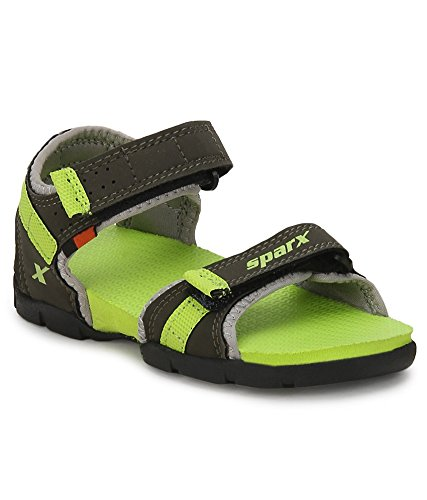Sparx Boy's Olive and Green Sandals (SS