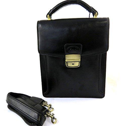 Francinel [L8263] - Sacoche Homme cuir 'Lafayette' noir (2 soufflets)