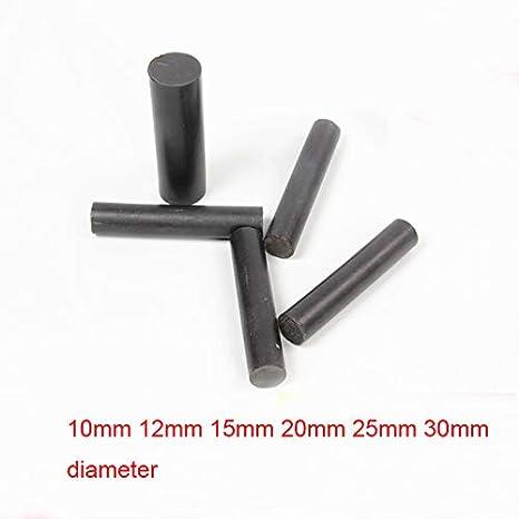 Ochoos 50cm Black polytef polytetrafluoroethylene Rod Black PTFE Shaft Teflon Stick Graphite Filled Rod 10mm 12mm 15mm 20mm 25mm 30mm - (Diameter: 25mm): Amazon.com: Industrial & Scientific