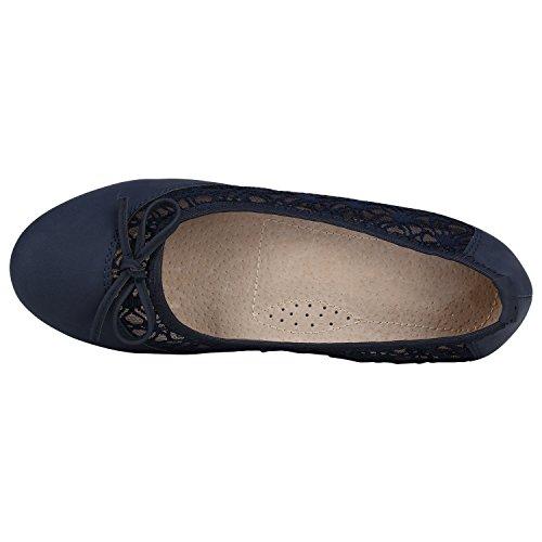 ea6162e81ab7 ... Klassische Damen Ballerinas Ballerina Schuhe Gummizug Basic Flats  Slipper Leder-Optik Übergrößen Gr. 41