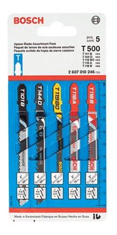 Bosch T500 5 Piece T Shank Blade