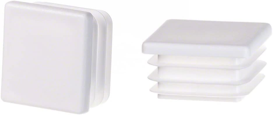 5 pcs Bouchon pour tuyau carr/é 16x16 anthracite plastique Embout bouchons dobturation