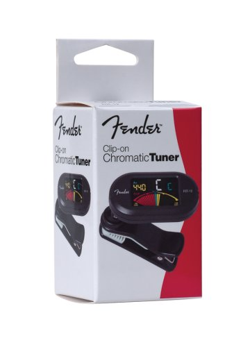 Fender Clip-On Tuner FCT-12 for Guitar, Ukulele, Bass, Violin, Mandonlin, and (Fender Electric Violin)
