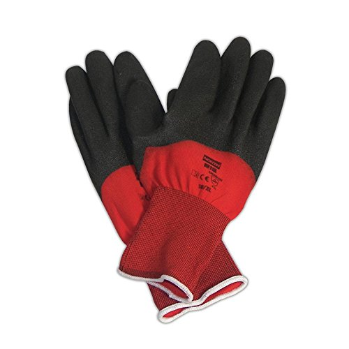 North by Honeywell NF11X/6XS North Flex Red X NF11X PVC 3/4 Coated Gloves, 7, Black, 6 (Pack of 12)