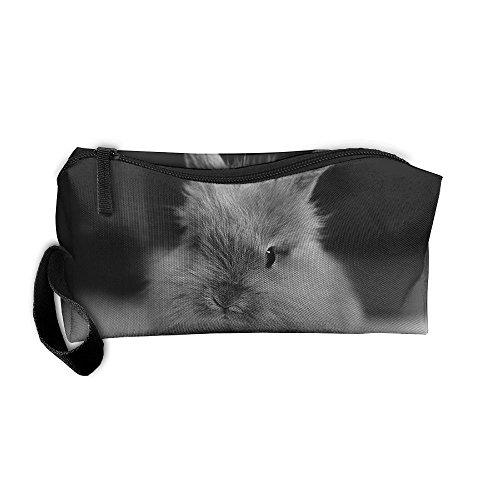 Jessent Coin Pouch Grey Rabbit Pen Holder Clutch Wristlet Wallets Purse Portable Storage Case Cosmetic Bags Zipper ()