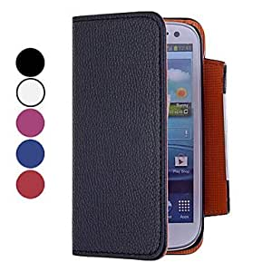Solid Color Full Body PU Leather Case for Samsung S4 I9500 --- COLOR:White