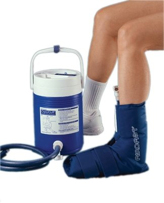 Aircast Cryocuff - Ankle With Gravity Feed Cooler - 11-1550 by Fabrication