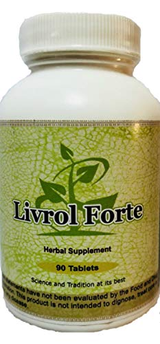Livrol Forte (Ayurvedic Herbal Liver & Gall Bladder Cleansing Supplement) 90 Tablets 1 gm(1000mg) Each - Concentrated