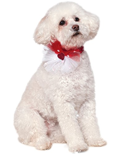 Company Costumes Ruby (Rubies Costume Company Valentine's Day Sequin Pet Necklace Collar, Medium/Large)