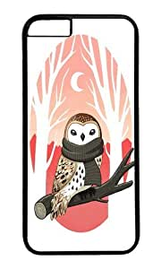 linJUN FENGApple Iphone 6 Case,WENJORS Adorable Winter Owl Hard Case Protective Shell Cell Phone Cover For Apple Iphone 6 (4.7 Inch) - PC Black