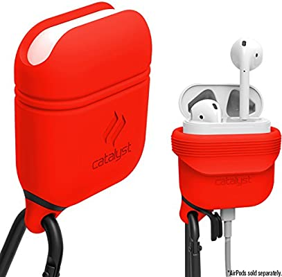 sports shoes 119d6 352b9 Waterproof Airpods Case Cover by Catalyst, Shockproof and Drop proof air  pods Protective Cover Soft Skin, Anti-Lost Carabiner, Silicone Sealing, ...