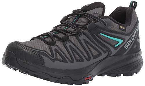 Salomon Women's X Crest GTX W Hiking Shoe, Magnet/Black/Atlantis, 11 M ()