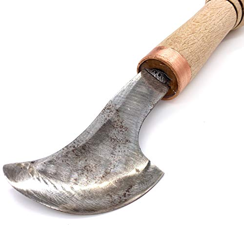 Leather Working Knife. Main Leather Tool with Two Sharp Edges - by Stamesky.