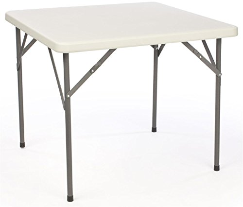 Displays2go Square Folding Table with Molded Top, 34″ For Sale