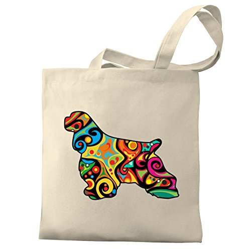 Canvas Eddany Cocker Psychedelic Eddany Spaniel Spaniel Tote Bag Cocker Canvas Psychedelic 7xaqwPC