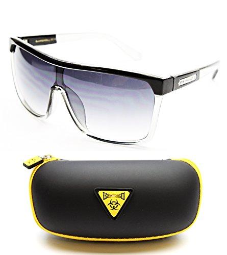 Bz110-bc Biohazard Sports/fashion Sunglasses (130 Black/Clear, - Brand Funk Sunglasses