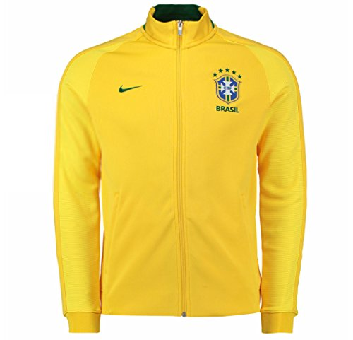 Track Jacket Authentic (Nike N98 Brazil CBF Authentic Track Soccer Jacket (X-Large) Yellow)