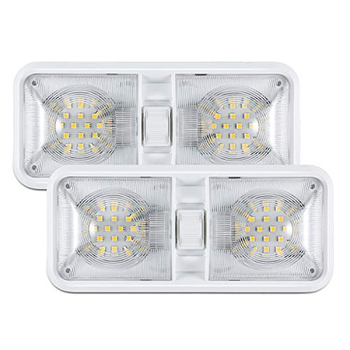 Kohree 12V Led RV Ceiling Dome Light RV Interior Lighting for Trailer Camper with Switch, White(Pack of - Lighting Small Trailer