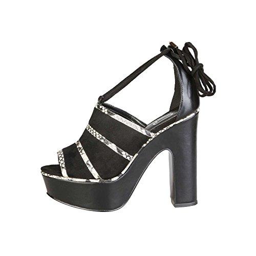 Ana Lublin - OTACILIA Sandalias Con Cordones Para Mujer Tacón 12.5 cm, Plataforma 4 cm