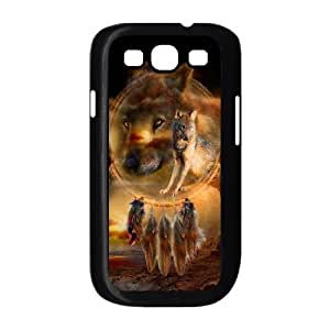 QNMLGB Hard Plastic of Wolf Dream Catcher Cover Phone Case For Samsung Galaxy S3 i9300 [Pattern-3]