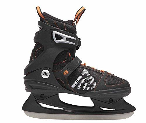 K2 Skates I130300401 Mens F.I.T. Ice Skate,Black/Orange,8.5