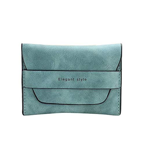 Wallet Fashion Women Bifold Wallet Clutch Card Holders Purse Short Handbag AfterSo (Blue)