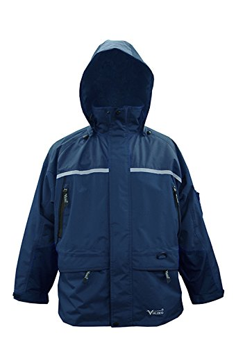 Viking Men's Tempest Tri-Zone Waterproof Insulated Winter Jacket, 4X-Large, Navy