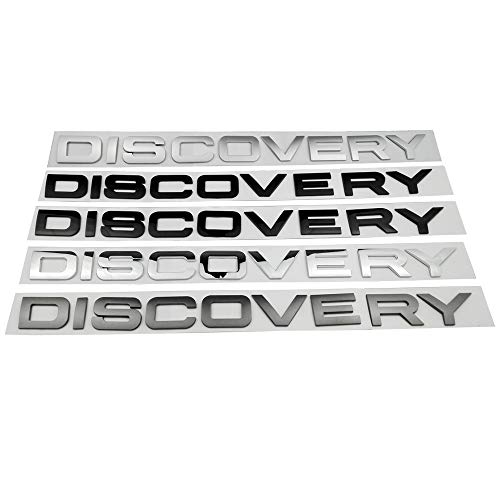 3D car stickers for Discovery 2 3 4 Head Cover hood front Letters Emblem Sports Line badge Letter emblem (Bright black)