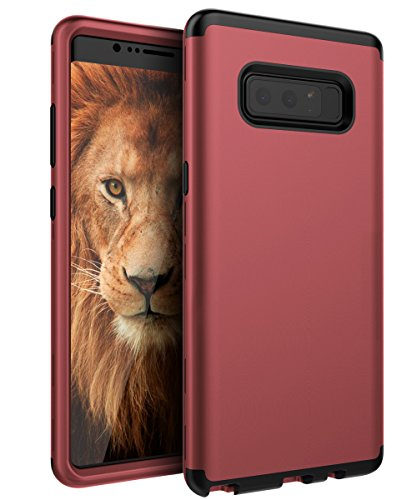SKYLMW Case for Galaxy Note 8, SKYLMW Three Layer Heavy Duty High Impact Resistant Hybrid Protective Cover Case for Galaxy Note 8 Blush - Case Fudge