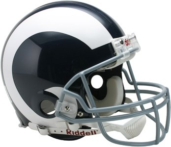 (Riddell Los Angeles Rams 1965-1972 Authentic Pro-Line Throwback Full Size Helmet)
