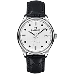 PATTOUS Men's SII 24 Jewels Automatic Mechanical Date Dress Watches