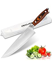 Grilljoy Professioneel koksmes met geschenkdoos, 9Cr18 vleesmes van roestvrij staal voor het snijden