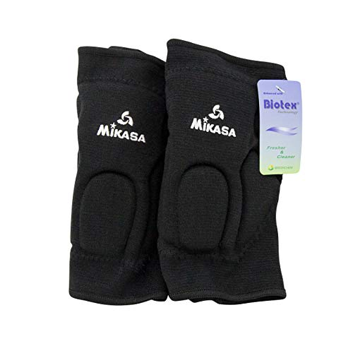 (Mikasa 832SR Competition Antimicrobial Kneepad, Black )