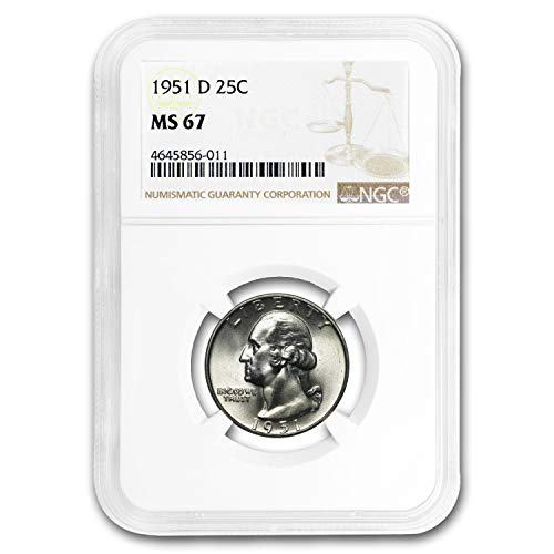 1951 D Washington Quarter MS-67 NGC Quarter MS-67 NGC