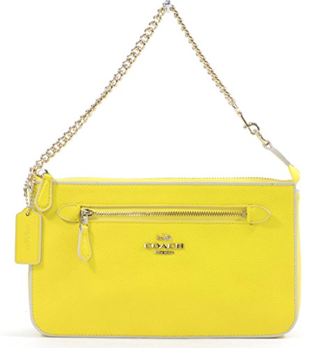 Coach Women's Yellow Chalk Nolita Wristlet 24 Colorblock Leather Wristlet Purse by Coach (Image #3)