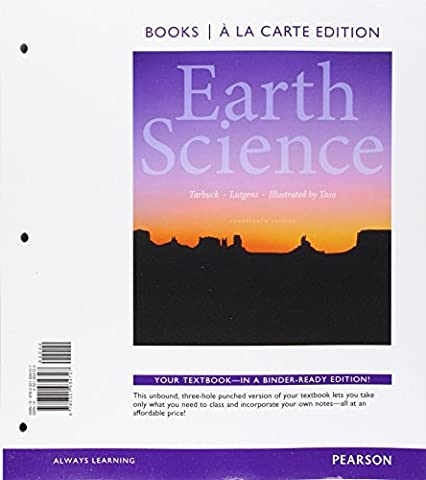 Earth Science, Books a la Carte Edition and Modified MasteringGeology with eText and Access Card (14th (Tarbuck Earth Science)