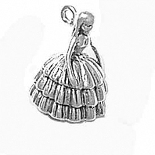 Sterling Silver 3D Southern Belle Lady Charm by Auntie's Treasures